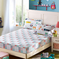 100%cotton Korean New Printed Bedspread twin/Queen/King/ size Fitted sheet Mattress cover bed Mattress Protector sheet