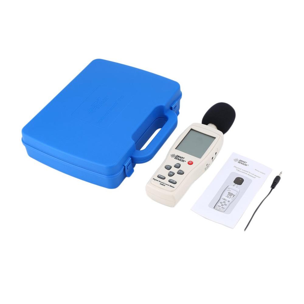 SMART SENSOR AS824 Sound Level Meters Decibel Meter Logger Noise Audio Detector Digital Diagnostic tool Automotive