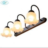 L61cm 3pcs Kapok Glass Lampshades Bathroom Mirror Front Light E27 Bulbs LED Vanity Wall Mounted Lamp