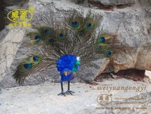 simulation peacock pavo toy polyethylene & furs handicraft gift doll about 15X40X35CM