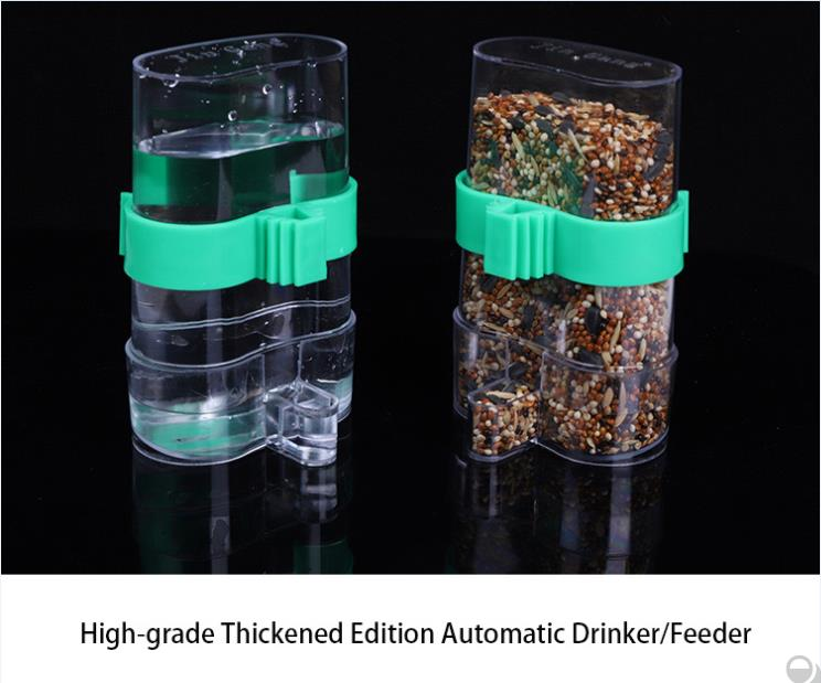Bird cup cage automatic feeder fluidity feeder controllable water cup bird appliances cage accessories cat supplies in Bird Feeding from Home Garden