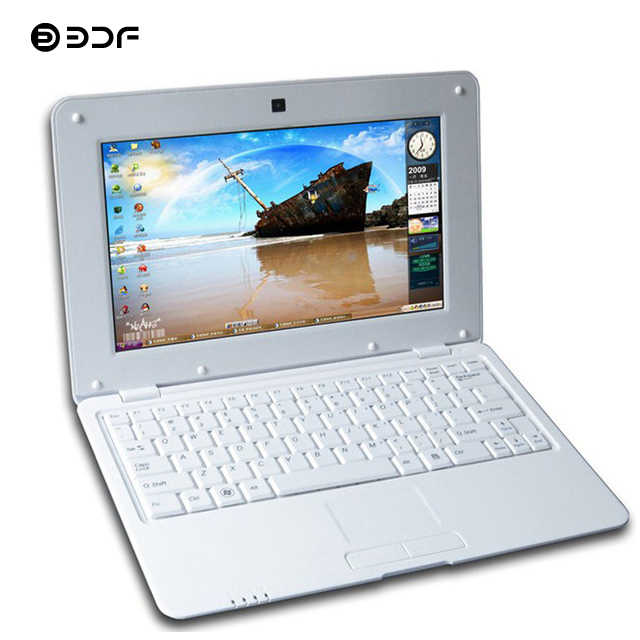 Bdf 10.1 Inci Mini Laptop Android Notebook Laptop Laptop Android 6.0 1024*600 WIFI Bluetooth 1 GB + 8 GB ROM Mini Netbook Laptop 10