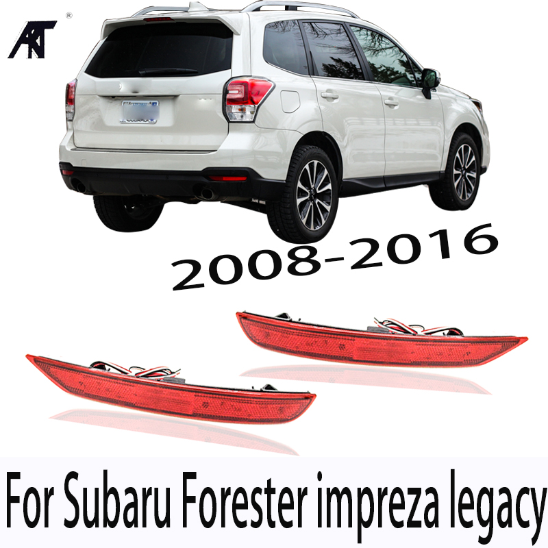 GOODS Rear LED Brake light For Subaru Forester impreza legacy 2008 2016 Rear Bumper LED Reflector light rear fog lamp