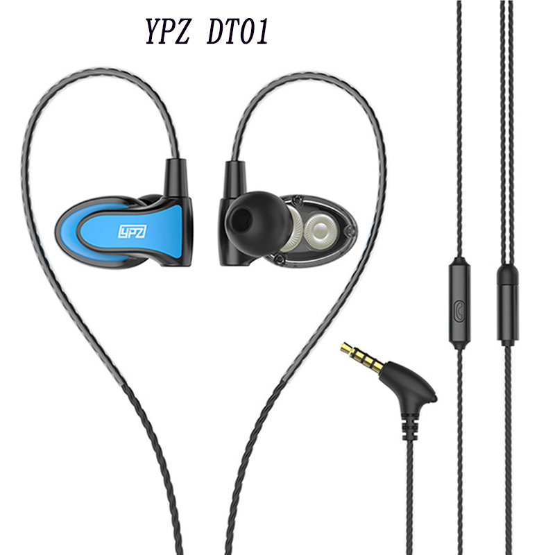 Original YPZ DT01 Earphones Mini Dual Driver Extra Bass Turbo Wide Sound gaming headset mp3 DJ Field Headset