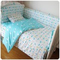2016 New Baby Bedding Set for Crib Newborn Baby Bed Linens for Girl Boy Cartoon Cot Bedding set Contain Bumpers Sheet Quilt
