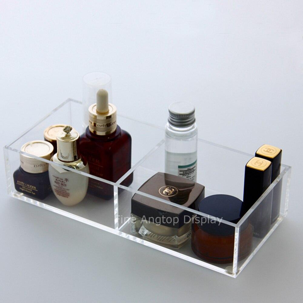 Support acrylique maquillage organisateur boîte cosmétique rouge à lèvres Perspex mallette de rangement clair bijoux affichage
