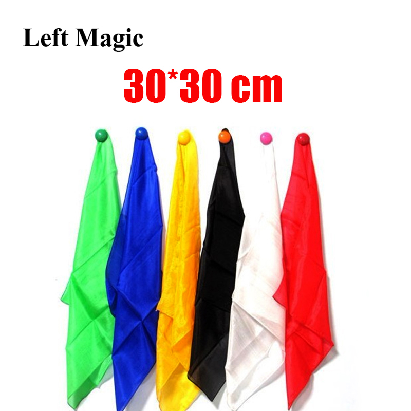 30*30cm Colorful Silk Scarf Magic Tricks Learning & Education Magic Silk For Close Up Magic Prop  E3136