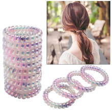 Get more info on the Spiral Hair Bands for Girls Women Headwear Accessories Telephone Wire Rubber Hair Ties Ropes Colored Hairband Ponytail Holder