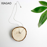 XIAGAO Personality 925 Sterling Silver Jewelry Necklace Pendant for Women Anime Round Necklace Chain Collares Top Quality CNN003