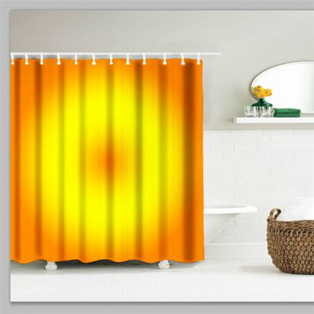 Lovely Pet The Orange Circle Mildewproof Shower Curtain Size 180*180 CM And  12 Hooks