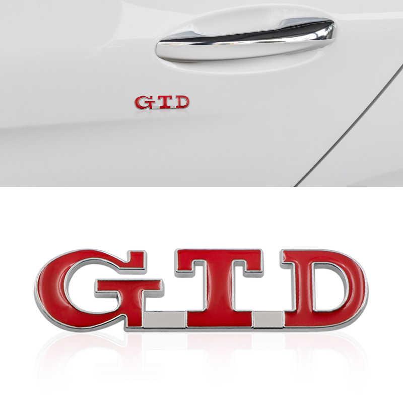 Voiture style GTD 3D emblème en métal voiture autocollant en alliage de Zinc Badge Auto queue décalque voiture style pour POLO golf 7 passat b6 MK4 MK5 MK7