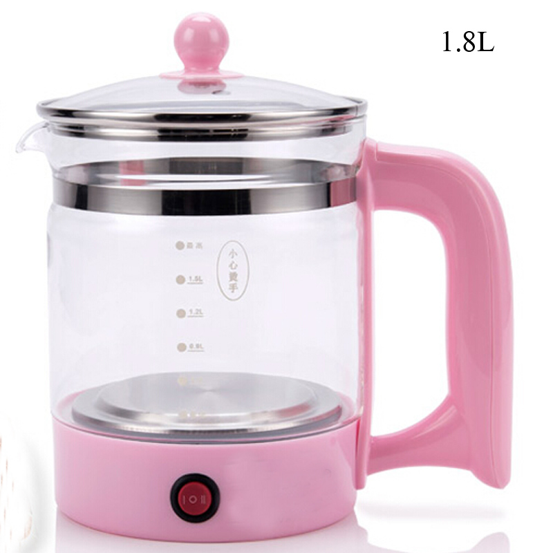 VOSOCO Electric kettle Health preserving pot Multifunctional teapot tea pot 1.8L 800W boiled split glass health pot water bottle electric kettle health care cup electric hot mini glass health pot office smart water brew teapot