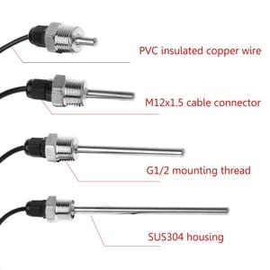 """Image 2 - DS18B20 Digitale Temperatuur Sensor G1/2 """"Draad Sonde Dia = 7 Mm 1 M Pvc 3 Core draad SUS304 Rvs Shell L30mm  L150mm XJ8"""