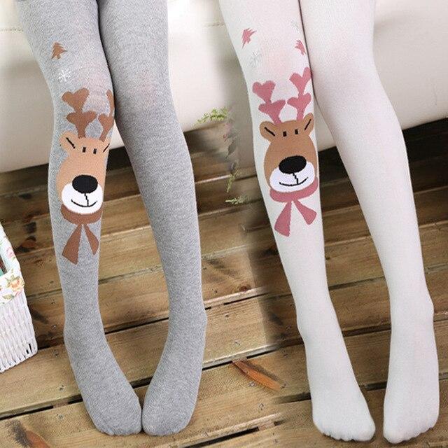 91c3708c35 2017 Natale vestiti del bambino ragazze calzamaglia wapiti cotone delle  calzamaglia delle ragazze dei capretti collant