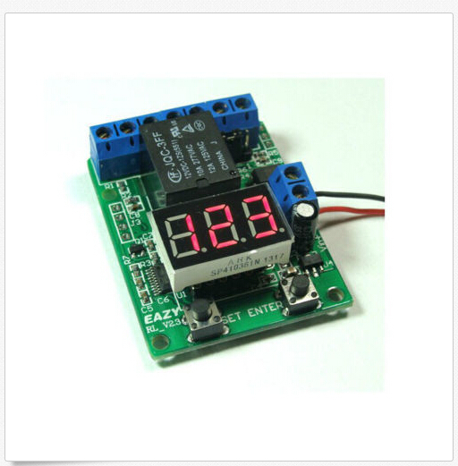 Подробнее о DC 12v relay board LED time relay timing voltmeter detection control switch dc relay module control board 12v switch load voltage protective detection test y103