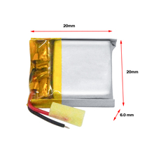 WAMA 602020 3.7V Li-polymer Rechargeable Battery Over-charge Protected PCB for Bluetooth Speakers Headphones DIY