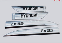 ABS Chrome Car Decoration On Side Door Molding Trim For Hyundai IX35
