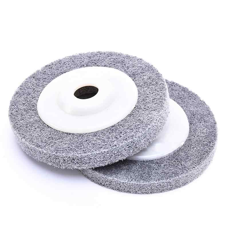 1 pz 100*12*16 Millimetri In Fibra di Lucidatura Ruota di Lucidatura Pad Rettifica Disco Abrasivo Per Metallo Lucidatura del Legno su Smerigliatrice Angolare