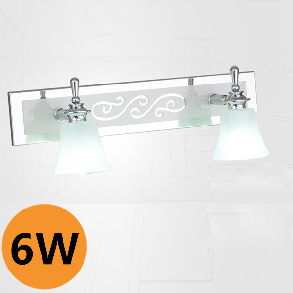 ФОТО Modern Classic Double Heads Led Mirror Lamp For Bathroom/Bedroom/Dresser Cloud Light Warm/Cold White Adjustable Lighting