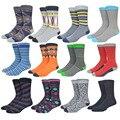 Colorful happy socks algodón conveniente de vestir casuales étnicas houndstooth pañuelos divertido hombres sox media k