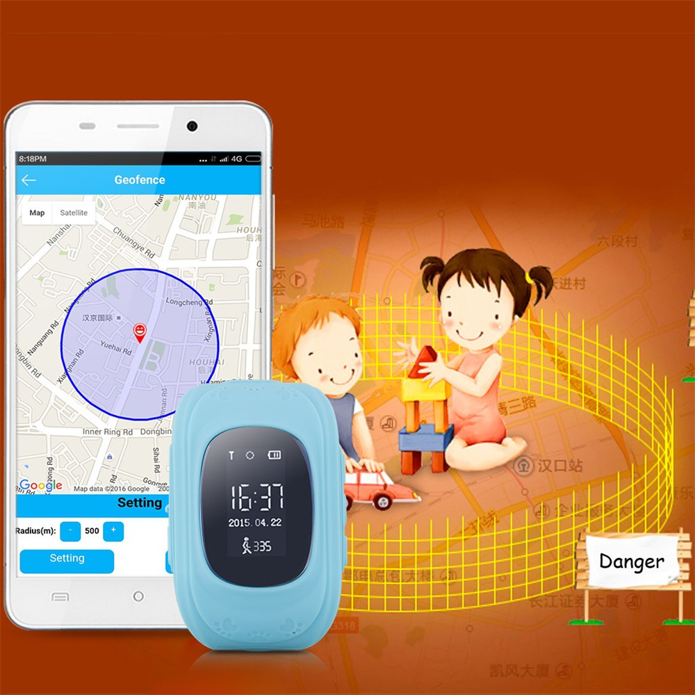 2016 Smart Kid Safe GPS Watch Wristwatch SOS Call Location Finder Locator Tracker for Kid Child Anti Lost Monitor Baby Gift Q5026