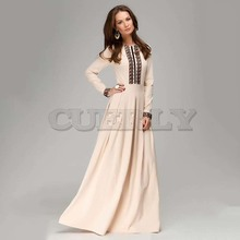 CUERLY 2019 russian style Spring Autumn New women solid color long dress with lace good quality elegant maxi