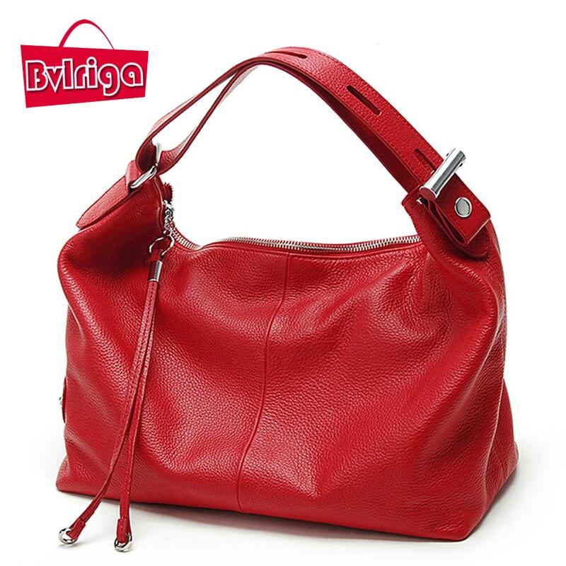 BVLRIGA Genuine leather bag luxury handbags women bags designer famous brands wo