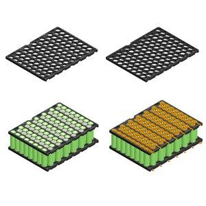 Image 5 - 18650 8*13 пластиковый кронштейн 13S8P держатель батареи и никель 8P13S держатель батареи + никель для 13S 8P 48V 20Ah литий ионный аккумулятор