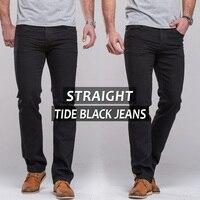 الرجال جينز مستقيم الساق السراويل موضة مصمم ماركات الجينز ماركة الجينز الشهيرة السراويل الطويلة القطن الأسود