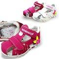 2016 Em stock NEW 1 pair Menina Crianças Sandálias, interno 13.5-18.5 cm, Super Qualidade Kids/Children Shoes