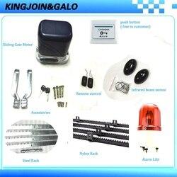 Auto Afstandsbediening Elektrische Automatische Poort Motor Domotica Gate Opener Enginee Complete Kit Voor Portal Met 4 M Gear rekken