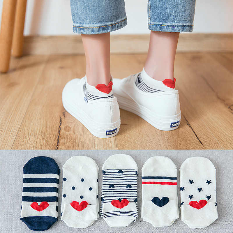 5 paar Lot Baumwolle Frauen Socken Weibliche Casual Boot 3D Pack Cartoon Harajuku Unicron Katze Nette Invisiable Lustige Mädchen Ankle socke Set