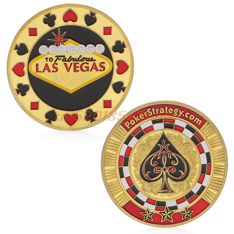 Commemorative Coin Poker Spade Lucky Chips Gold Plated Collection Gift  #H030#