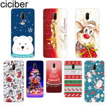 ciciber Phone Case For Oneplus 7 Pro 6 5 T Soft TPU Back Cover Clear Coque for 1+7 Pro 1+ 6 1+5 T Fundas Shell Merry Christmas