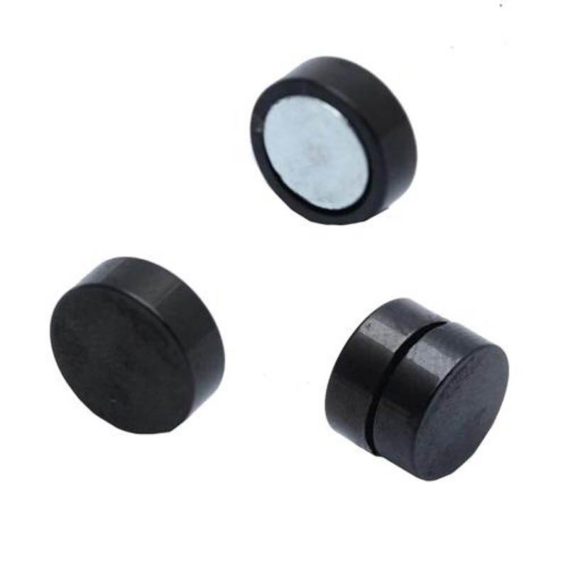 1 Para 6/8/10/12mm Magnet Kreis Runde Bolzenohrring Edelstahl ...