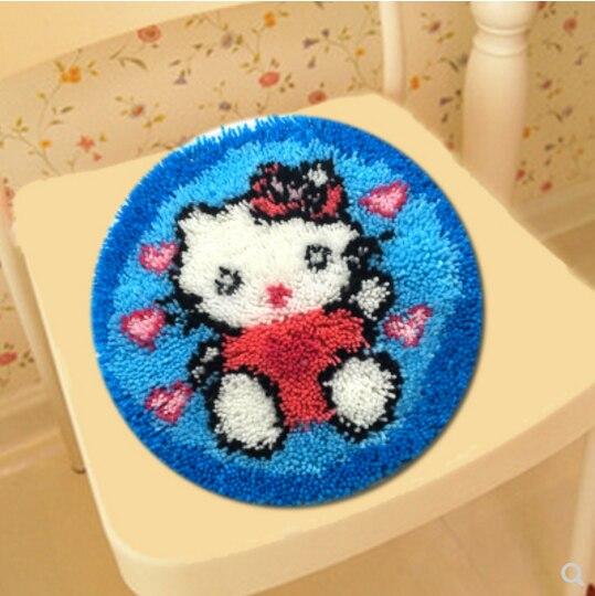 Tappeto cuscino tappeto Gancio del Fermo kit coverhand craft ricamo FAI DA TE Uncinetto fatto a mano cucito forniture