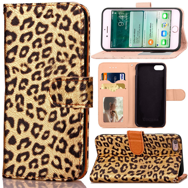 release date: 5aca4 47943 US $4.99 |Leopard Print PU Leather Case for iPhone 6 6S Plus Wallet Phone  Case Coque Back Cover Flip Stand Phone Bag for iPhone 6 Plus-in Flip Cases  ...