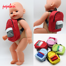 Doll Backpack for 18inch 43cm doll Baby Born zapf dolls accessories outgoing packets