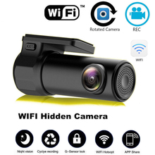 цена на Full HD 1080P WiFi Car DVR Vehicle Camera Dash Cam Night Vision Wide Angle Video Recorder G-Sensor for IOS Android Smartphones