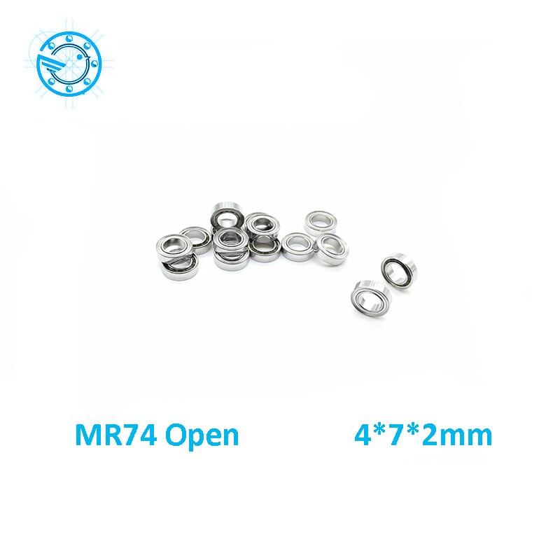 Free Shipping 10 PCS Open  MR74 Bearings 4x7x2 mm Miniature Ball Bearings L-740 4*7*2mm free shipping 10 pcs open type mr85 bearings 5x8x2 5 mm miniature ball bearings l 850 mr85