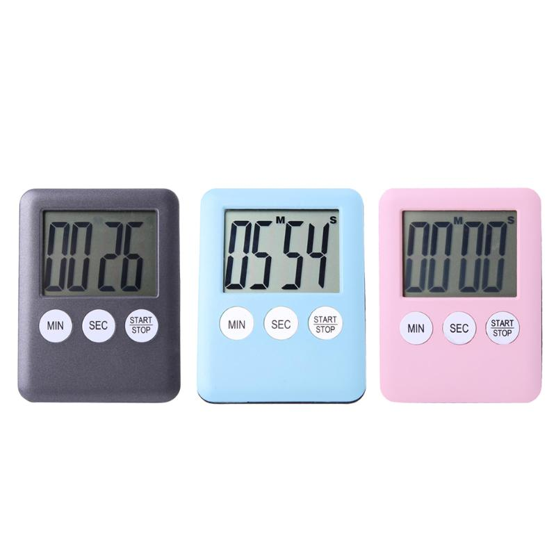 Multifunctional Magnetic Large LCD Digital Kitchen Timer Alarm Count Up  Down Clock Gym Run Timer Portable Cooking Tool