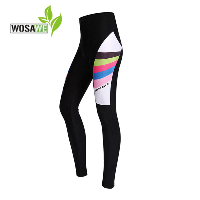WOSAWE Women spring Cycling Pants 3D Gel Padded 2018 Mountain Bike Riding Bicycle bottoms ciclismo Tights Trousers long pants