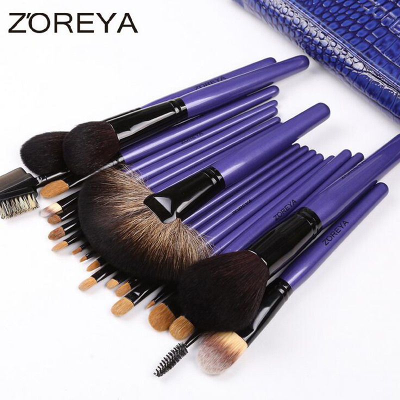 ZOREYA 22Pcs Makeup Brushes High Quality Powder Eyeshadow Eyebrow Lip Blending Brush Makeup Brush Set Tools Pincel Maquiagem цена