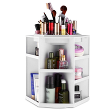 Makeup Organizer Tabletop 360 Rotating Cosmetics Storage Case