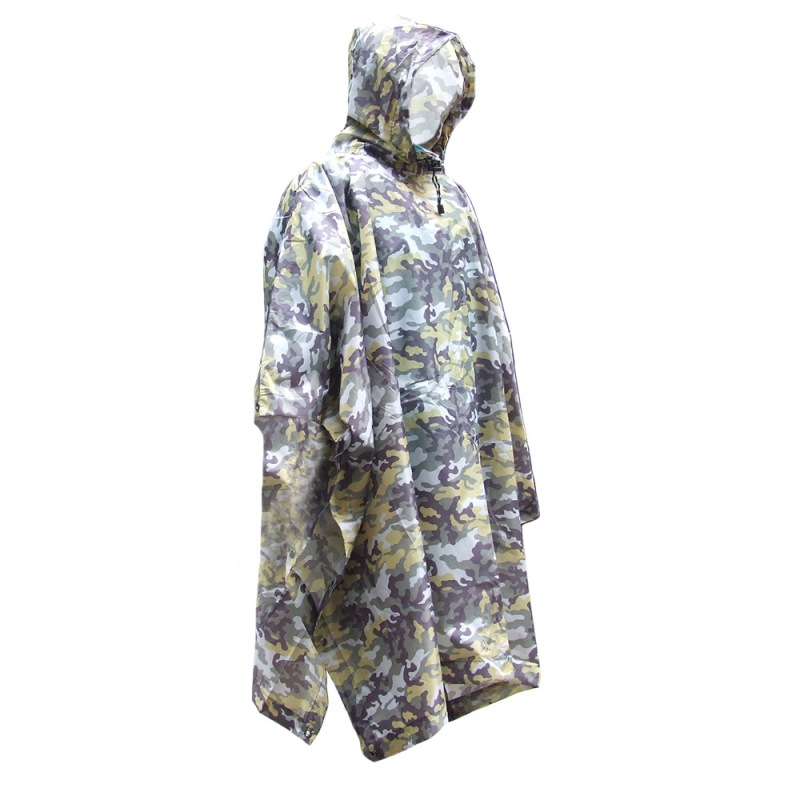 Plus Size Hunting Clothes Adult Poncho Jungle Camouflage Polyester Hiking Mountaineering Raincoat for Electric RidePlus Size Hunting Clothes Adult Poncho Jungle Camouflage Polyester Hiking Mountaineering Raincoat for Electric Ride