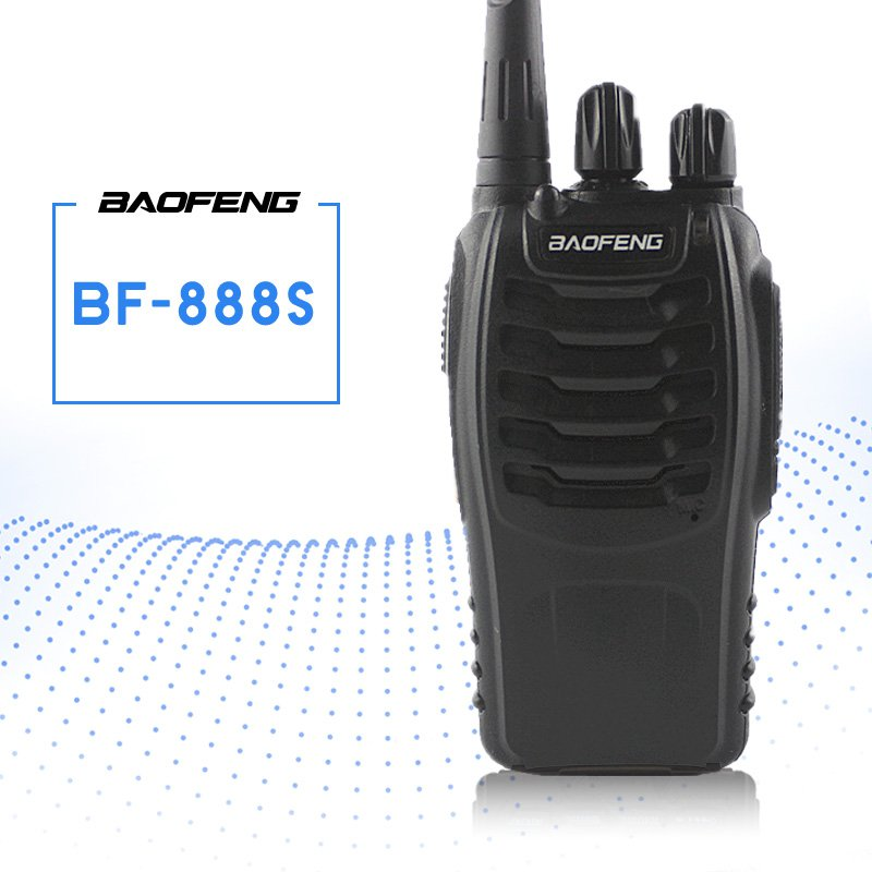 BAOFENG BF-888S Walkie Talkie UHF FM Transceiver Handheld Interphone 400-470MHz 16CH Two Way Portable CB Radio Long Distance