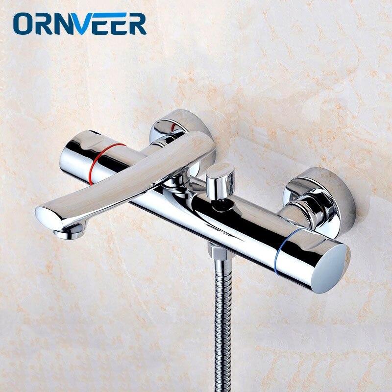 Livraison gratuite robinet de salle de bain robinets de douche mitigeur de bain système de douche douche tropicale support de douche avec mélangeur cuivre