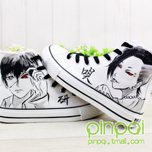 New Anime Tokyo ghouls Ken Kaneki Cosplay Fans High Ankle Canvas Sneakers Shoes Hot Sale