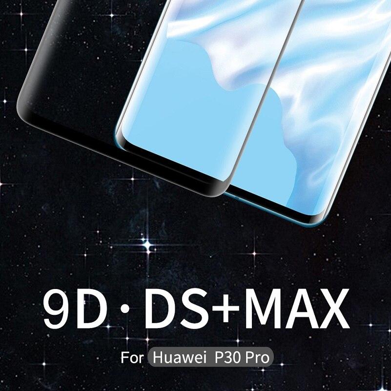 Nillkin 3d ds max protetor de tela protetora para huawei companheiro 20 pro vidro para huawei p30 pro vidro temperado 9 h segurança 6.39/6.2