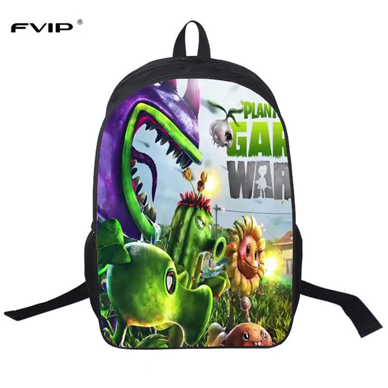 FVIP 16 Inch Plants vs. Zombies Backpacks For Teenagers Shoulder Bags School Bag Student Backpack Mochila Bolsas Escolar
